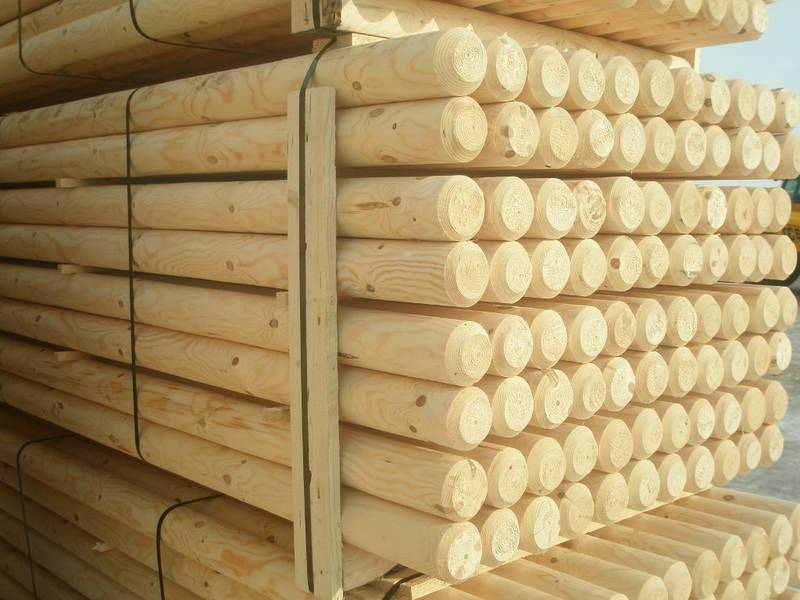 Machine round posts / poles